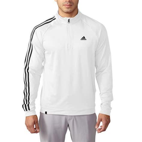 Sale Adidas Replika 3 Stripe Berkualitas sale adidas golf 3 stripes sleeve 1 4 zip pullover mens golf sweater ebay