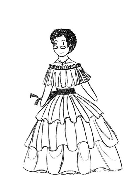 mexican dresses coloring pages how to draw mexican dress coloring pages color luna