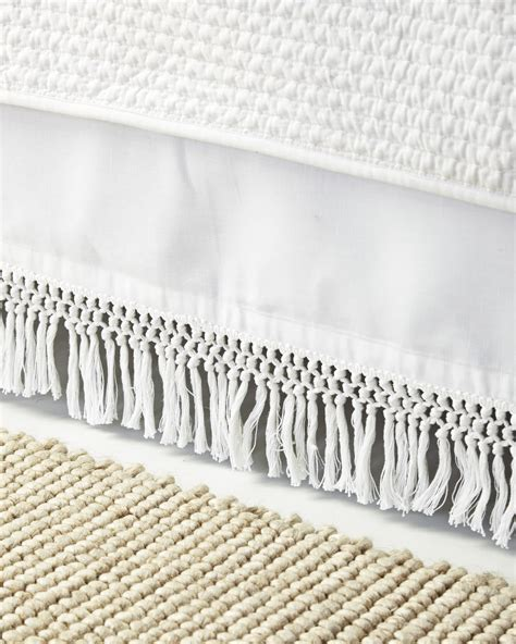 macrame bed skirt serena lily
