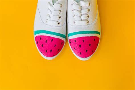 diy watermelon shoes diy watermelon sneakers bespoke wedding
