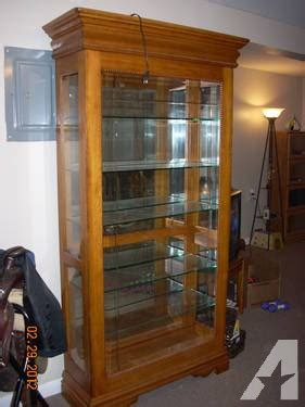 oak curio cabinets for sale an offer solid oak curio cabinet display lights