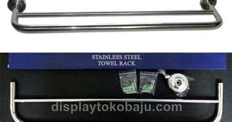 Rak Towel Rack Handuk Jemuran Baju Organize Stainless Steel Portabel rak handuk stainless rhs2 display toko baju jual
