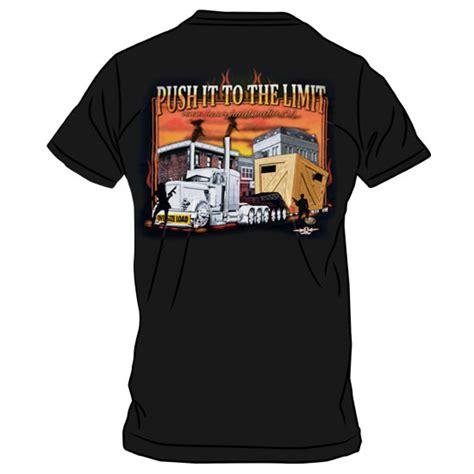 T Shirt Push It black heavy haul mafia push it to the limit t shirt medium