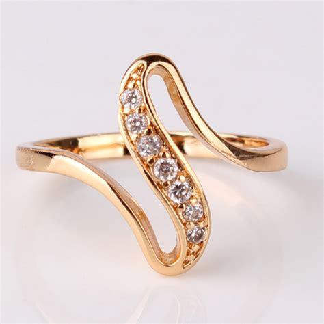 budong 2017 finger rings gold color engagement