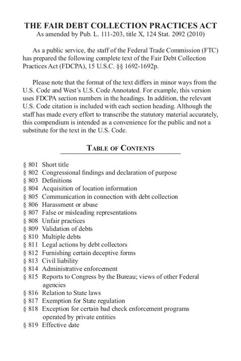 fair debt collection practices act section 809 b fair debt collection practices act