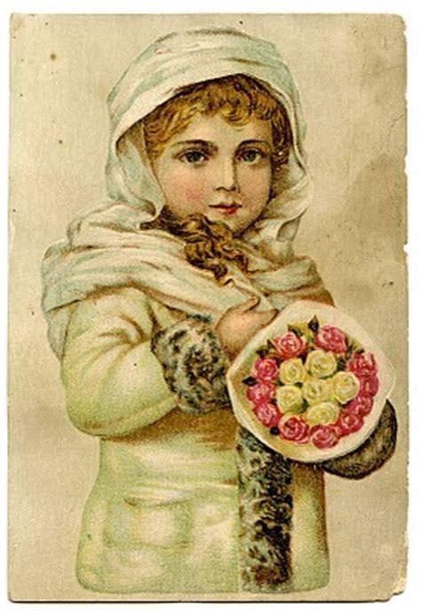 Vintage Christmas Clip Art   Stunning Angelic Snow Girl