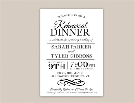 rehearsal dinner invitation template free unavailable listing on etsy