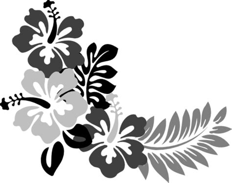 flower tattoo vector free hibiscus flower template clipart best