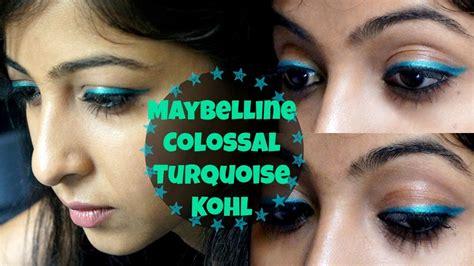 simple eyeliner tutorial kohl maybelline colossal turquoise kohl tutorial easy eye