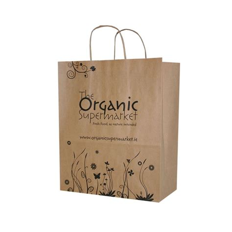 supermarket bag packing letter template the organic supermarket brown kraft paper bags by barry