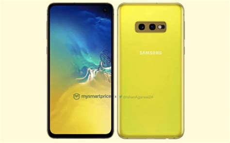 Samsung Galaxy S10 Yellow by Samsung Galaxy S10e Canary Yellow Rendered Image Shows Up Android Community
