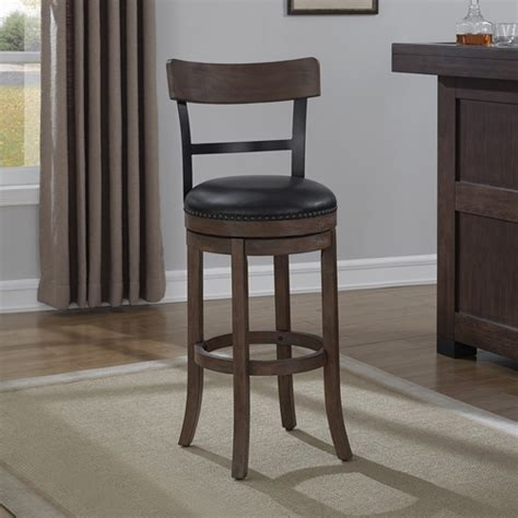 doyle counter stool brown dcg stores taranto swivel counter stool washed brown black bonded
