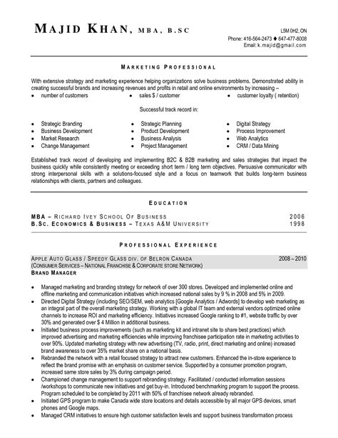 Resume Template Canada by Canada Resumes Free Excel Templates