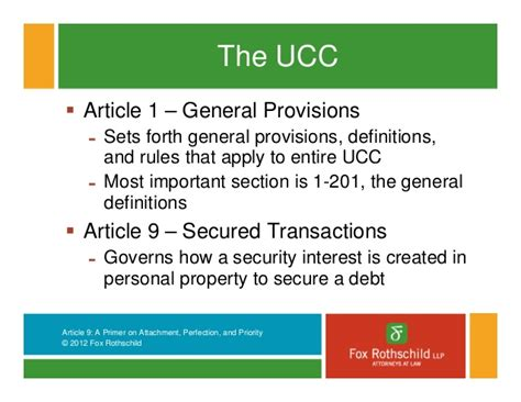 ucc section 9 article 9 basics