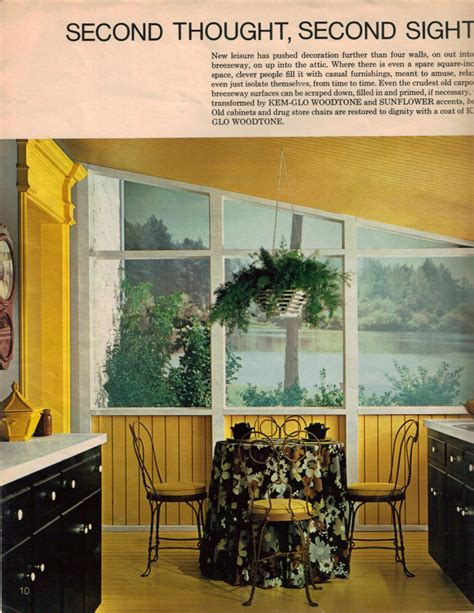 Decorating Ideas Sunflower Yellow Kitchen 19 Interior Designs From 1970 Retro Renovation