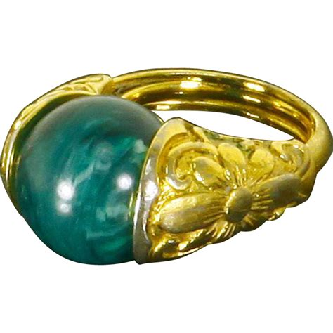trifari domed ring adjustable interchangeable