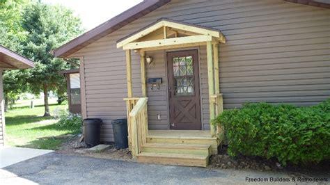 Front Door Stoop Ada Wheelchair Handicap R With Deck Freedom Builders Remodelers