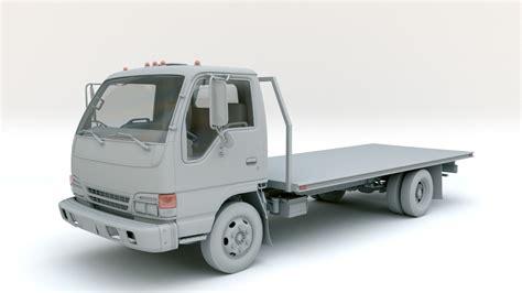 3d model isuzu flatbed truck