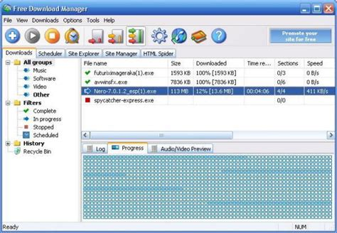 free software free manager
