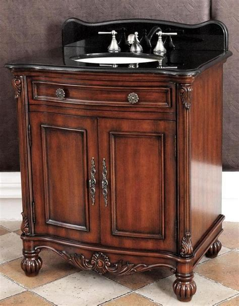 Bathroom Vanities Granite 32 Inch Single Sink Bathroom Vanity With Black Granite Top