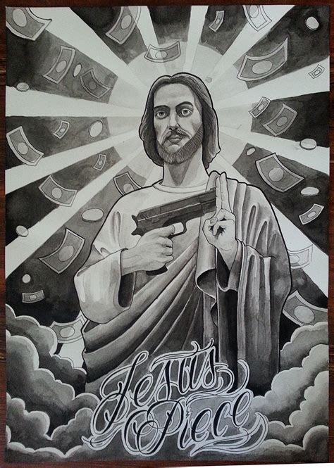 jesus piece tattoo jesus flash by upartmusik on deviantart