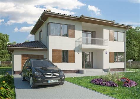 типовой проект двухэтажного современного дома rimini 2