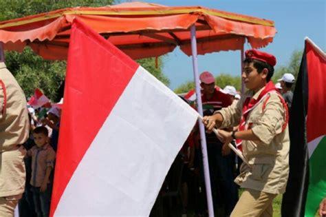 Ostrich Merah Sembur Putih Bos 5 goriau ingin merdeka seperti indonesia rakyat palestina kibarkan bendera merah putih dan