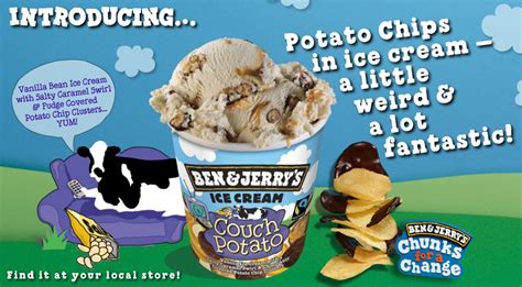 ben and jerry s couch potato potato chip fudge ice cream myideasbedroom com