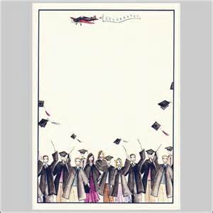 let s celebrate by bonnie collection blank graduation invitations blank