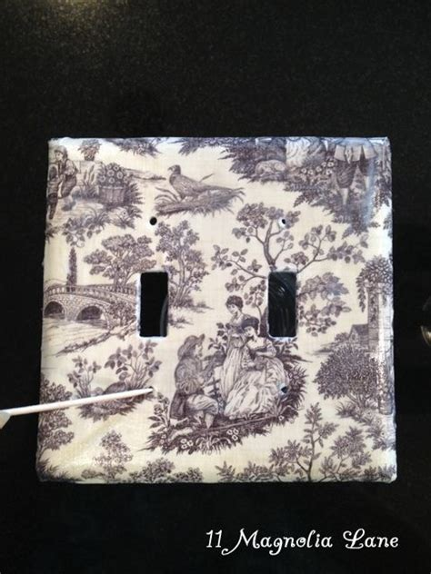 Decoupage Switch Plates - decoupage switch plate covers use a toothpick to poke