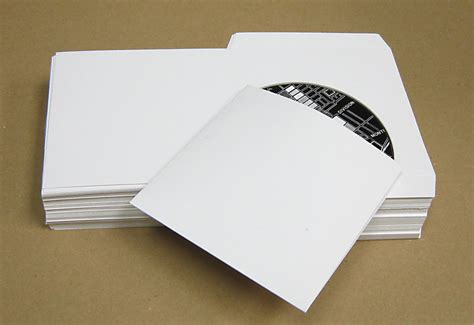 Dvd Cd Sleeves Jaket Cd Dvd flat white cardboard sleeves for cd dvd cd dvd