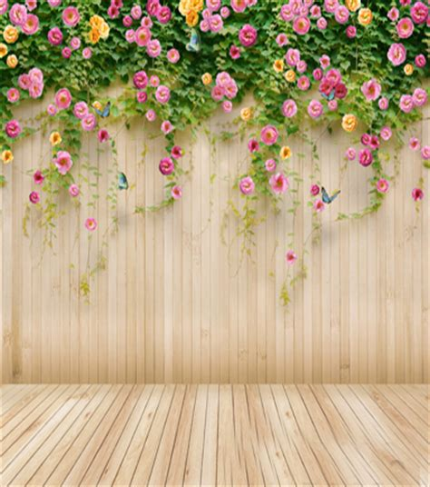pretty painted floors with flower designs aliexpress com buy wooden wall floor flower children