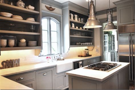 Gray Painted Kitchen Cabinets by Header Gray Kitchen Love