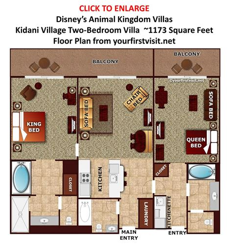 Animal Kingdom Villas Floor Plan | the disney vacation club quot dvc quot resorts at walt disney world