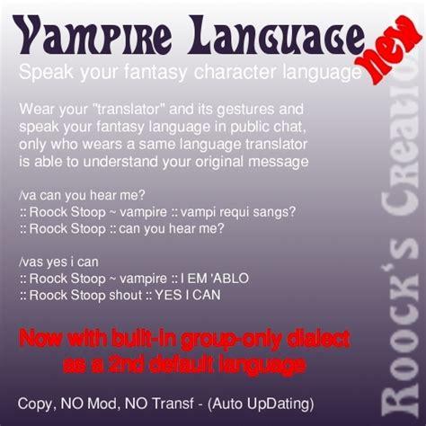 briclanpoca vampire language translation