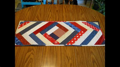 construct 2 runner tutorial scrappy 9 patch table runner quilt as you go patriotic table runner youtube