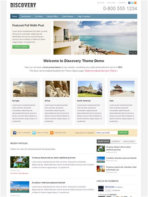 discovery wordpress travel guide theme for magazine