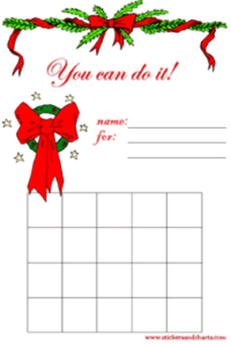 free printable christmas sticker charts christmas st