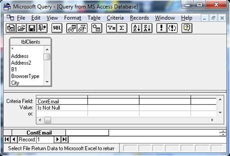unrecognized database format excel query how to embed database sql queries in excel