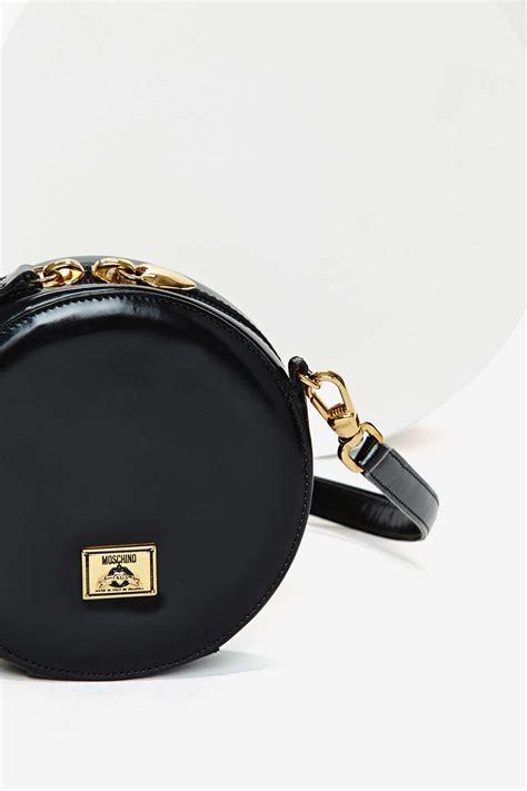 Handbag Gucci W8440 Wea gal vintage moschino leather bag in black lyst