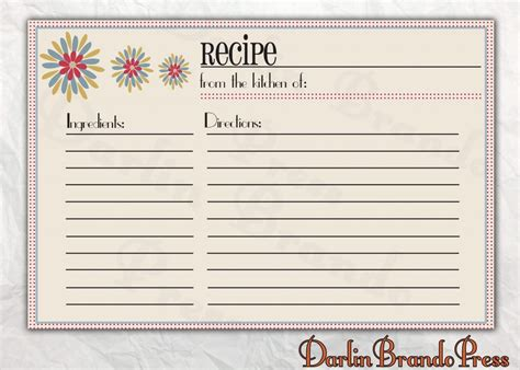 Free Editable Recipe Card Templates For Microsoft Word Awesome Collection Of Word Recipe Card Recipe Card Template For Word