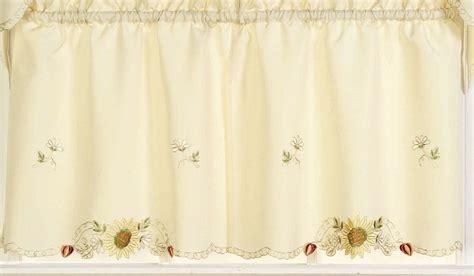 24 kitchen curtains sunflowers 24 quot kitchen curtain tier linens4less com