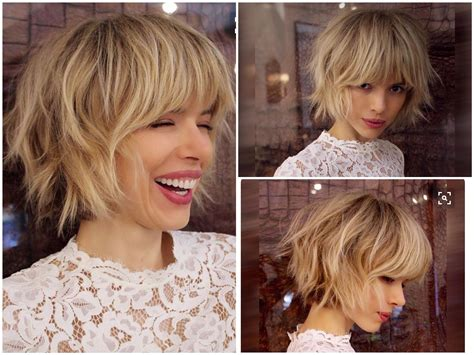 bob with a fringe layered through bottom layered bob with some fringe bang could be pretty