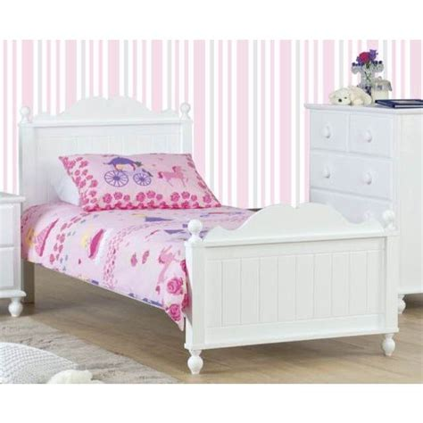 White Princess Bed Frame Princess Wooden Single Bed Frame In White Buy Single Beds