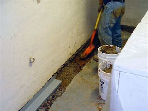 Our Complete Foundation Drain System   Installing A