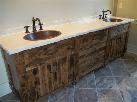 Tongue And Groove Kitchen Cabinet Doors by Solid Hardwood Rough Sawn Master Bath Canary Cabinets