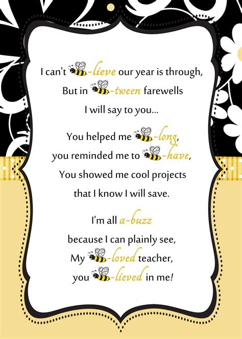appreciation letter for kg bee letter by reneessoirees gift ideas