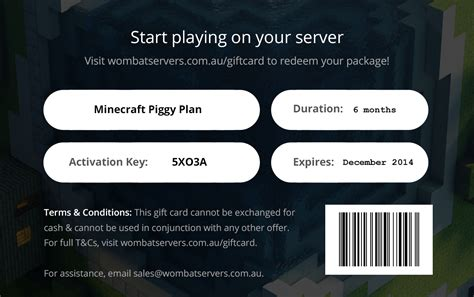Gift Card Redemption - minecraft realms gift card homeminecraft