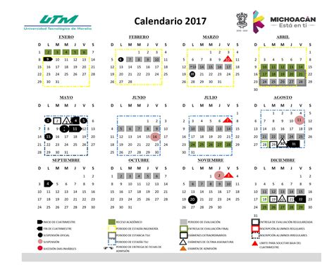 Calendario 2017 Para Oficina Gobierno Estado Calendario Escolar 2017