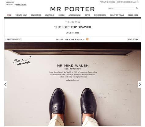 mr porte mr porter style guide